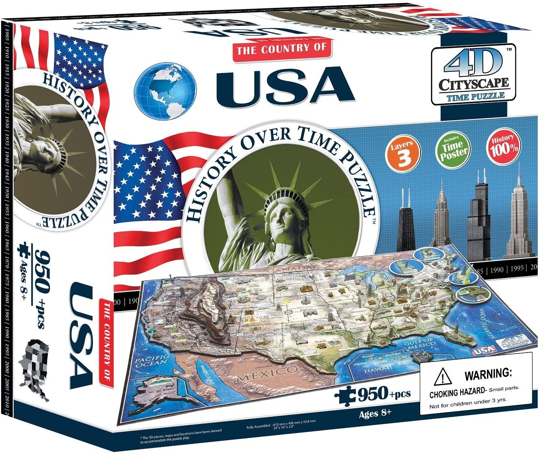 USA - 4D puzzle