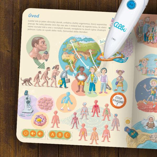 Kniha - Ľudské telo - bez ceruzky