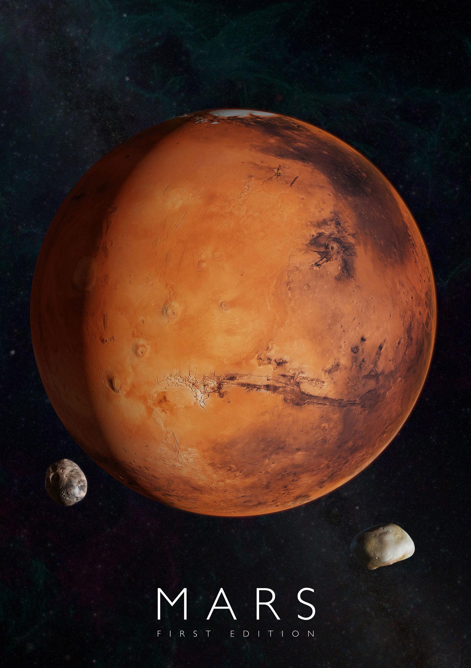 Plagát Mars pre rozšírenú realitu