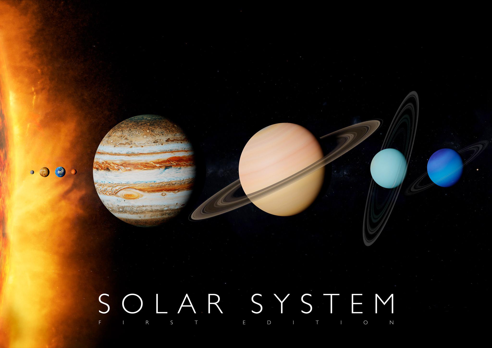 Plagát Slnečná sústava pre rozšírenú realitu