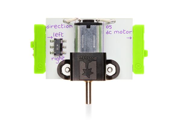 prvok littleBits - Jednosmerný motor