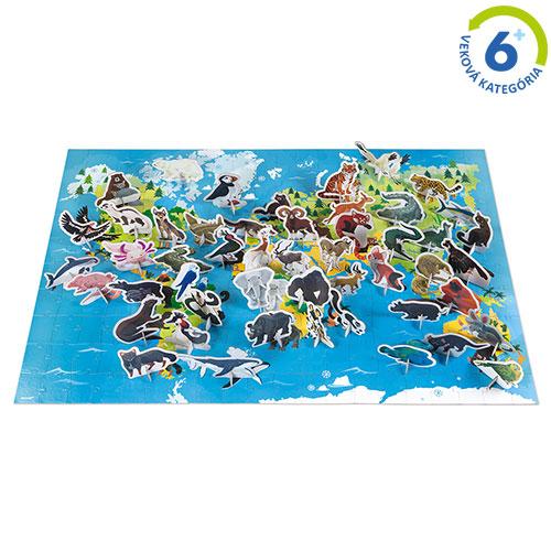 Vzdelávacie puzzle - Ohrozené zvieratá
