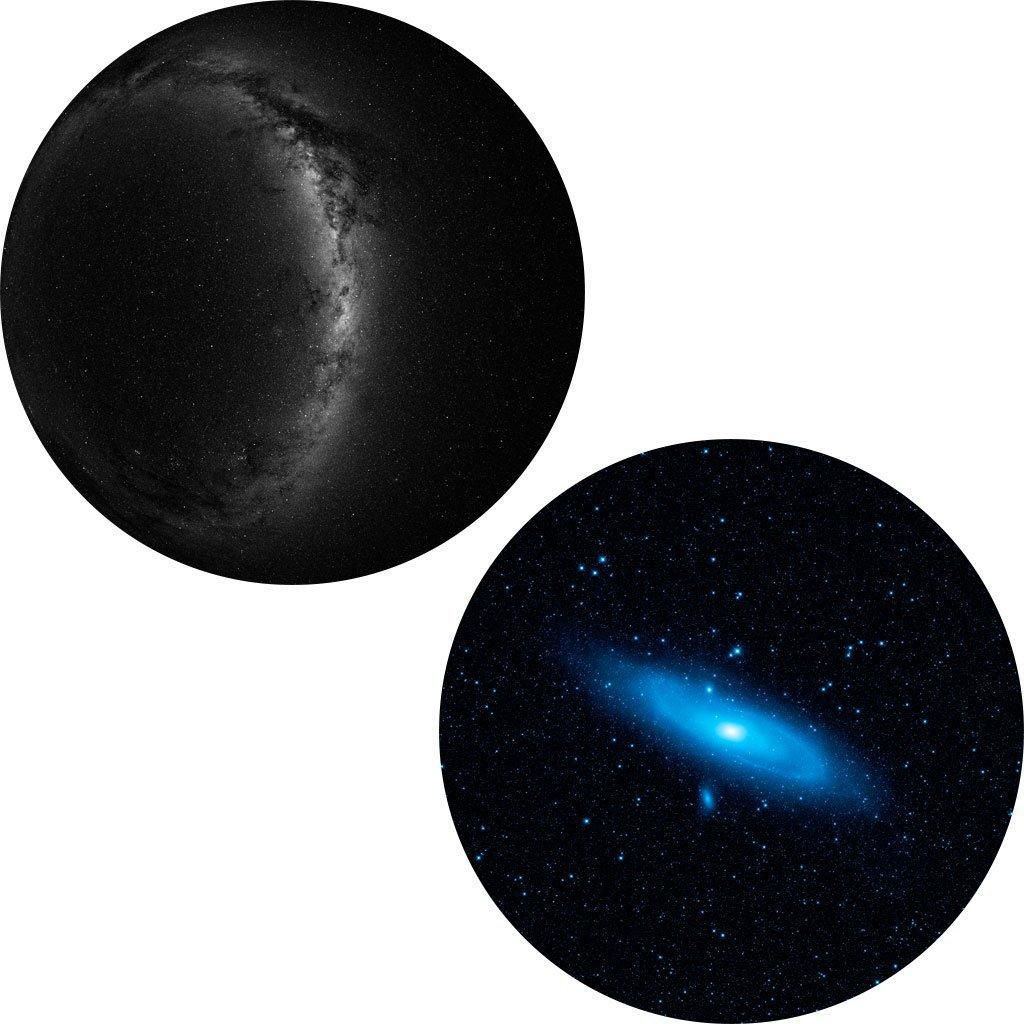 Dvojdisk - Južná obloha a Androméda